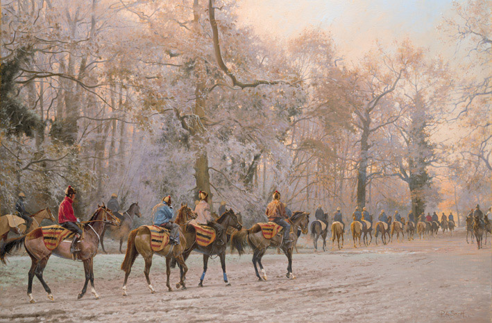 Soft Light Hard Frost Limited Edition Horse Racing Print