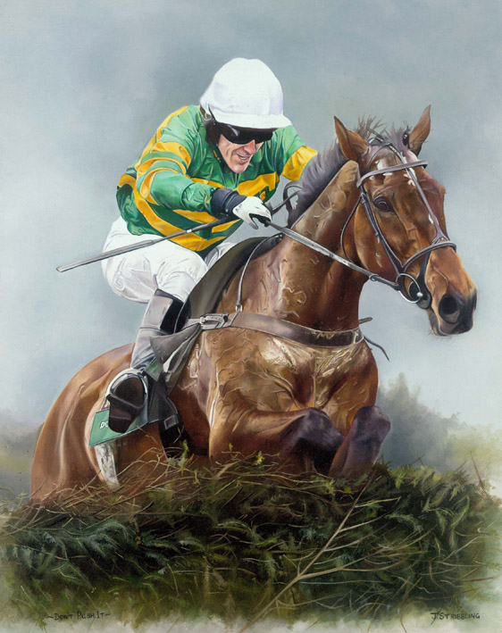 Dont Push It Limited Edition Horse Racing Print By