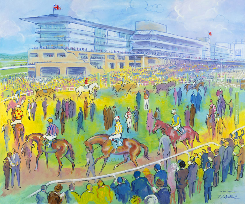 Cheltenham Colours Limited Edition Horse Racing Art By