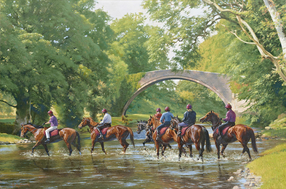 Crossing The Doon Limited Edition Horse Racing Print By British Artist Peter Smith