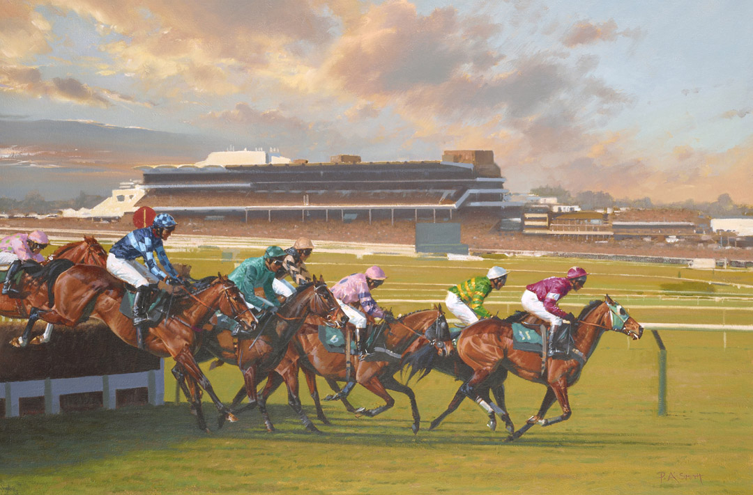 Forever Cheltenham Limited Edition Horse Racing Print By British Artist Peter Smith