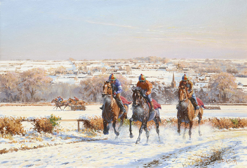 Winter Wonderland Limited Edition Horse Racing Print By