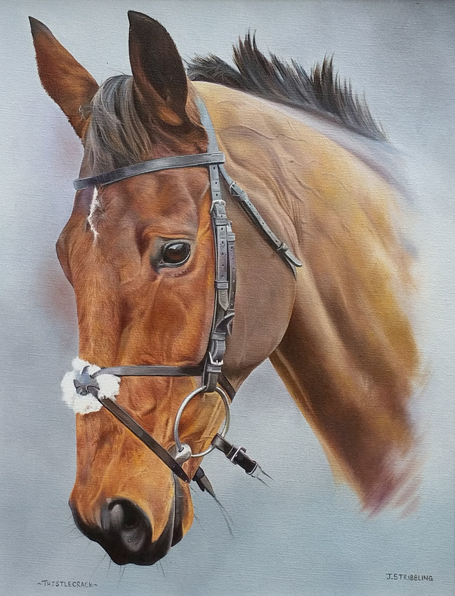Thistlecrack Head Study Limited Edition Horse Racing